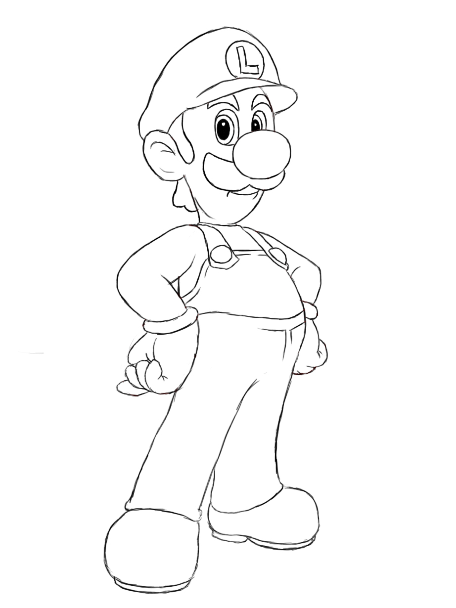 922x1230 How To Draw Luigi