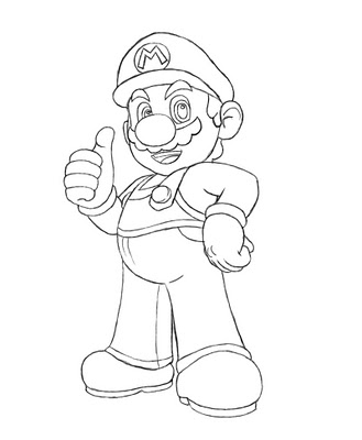 329x400 How To Draw Mario Cartoon, Characters And Tutorials