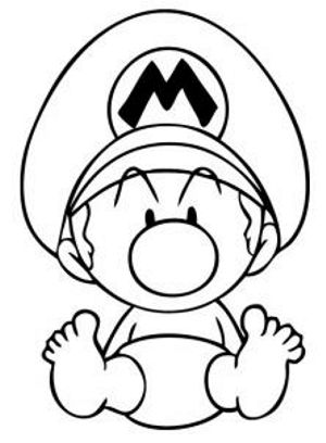 300x408 How To Draw Baby Mario How To Draw Mario