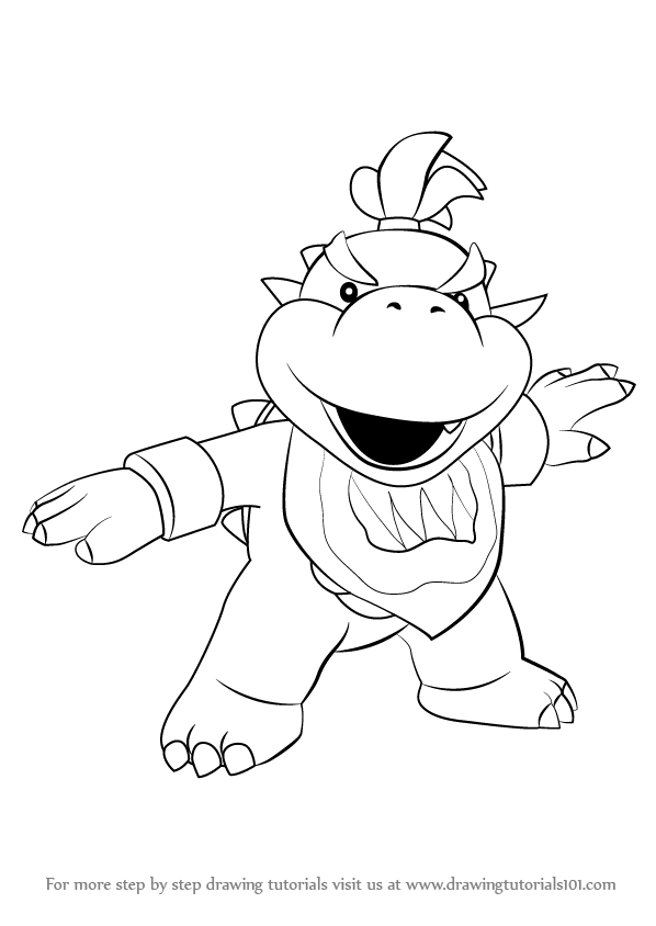 598x844 Learn How To Draw Bowser Jr. From Super Mario (Super Mario) Step