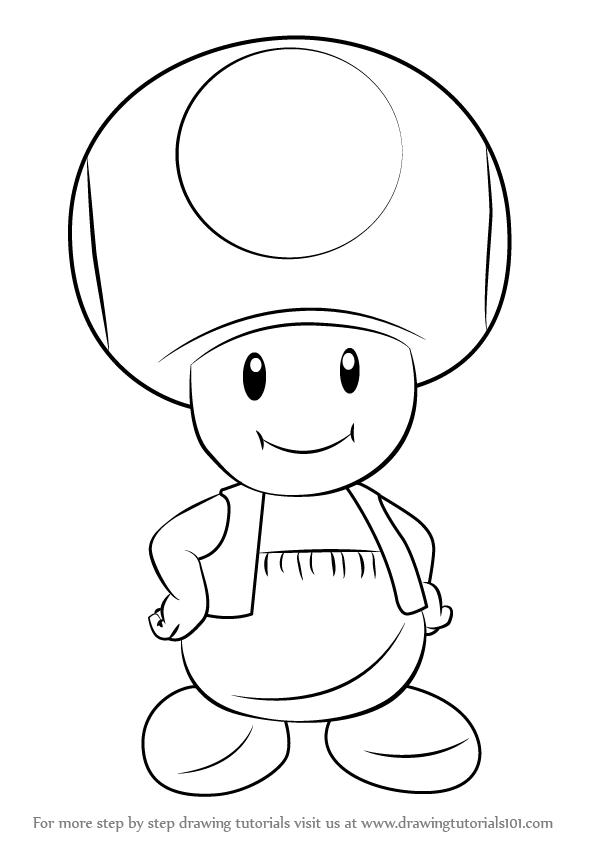 597x844 Learn How To Draw Toad From Super Mario (Super Mario) Step By Step