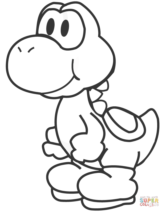 670x867 Super Mario Coloring Pages Yoshi In Funny Print With Page