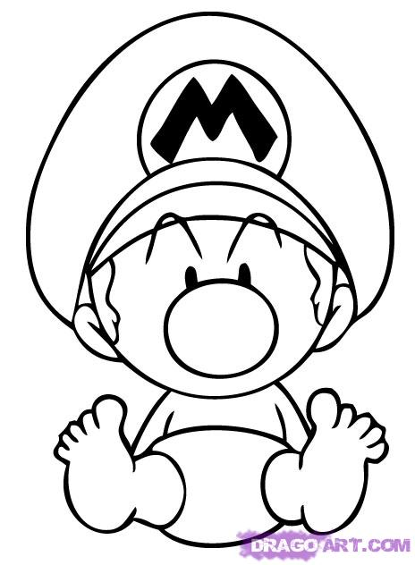 464x632 How To Draw Baby Mario Drawing Babies, Drawings