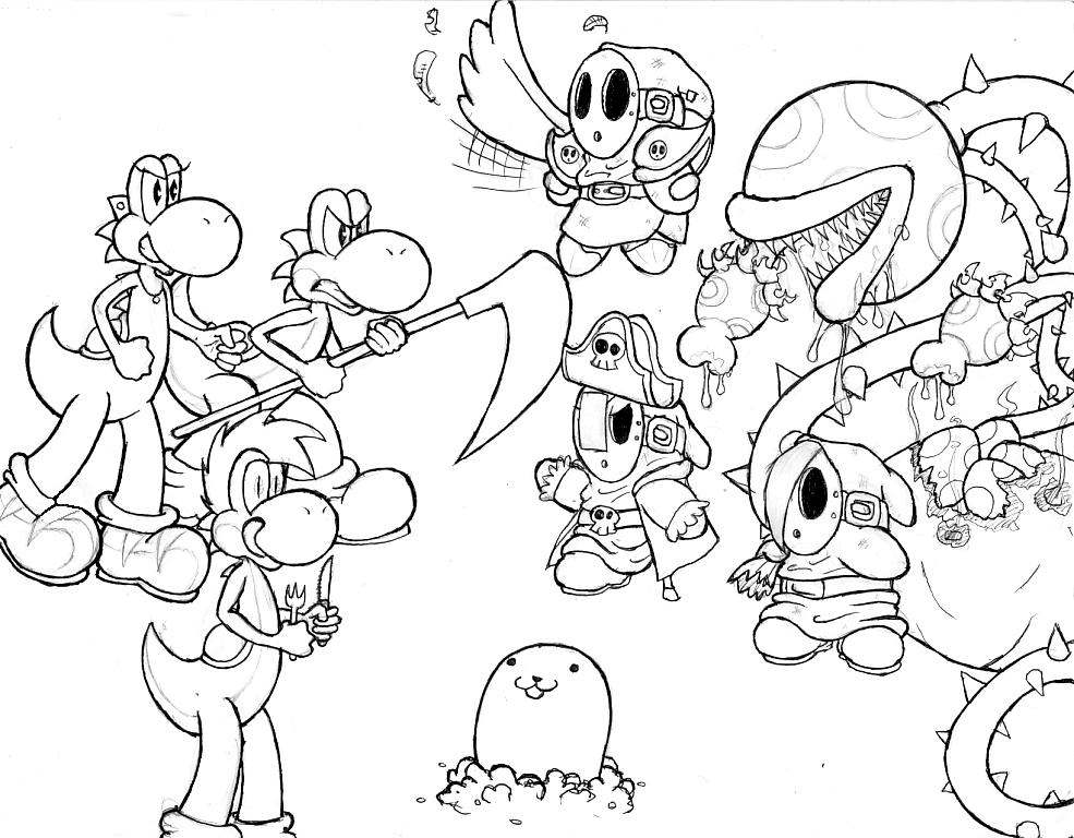 985x768 I Love Mario Fan Characters 2 By Geopyro