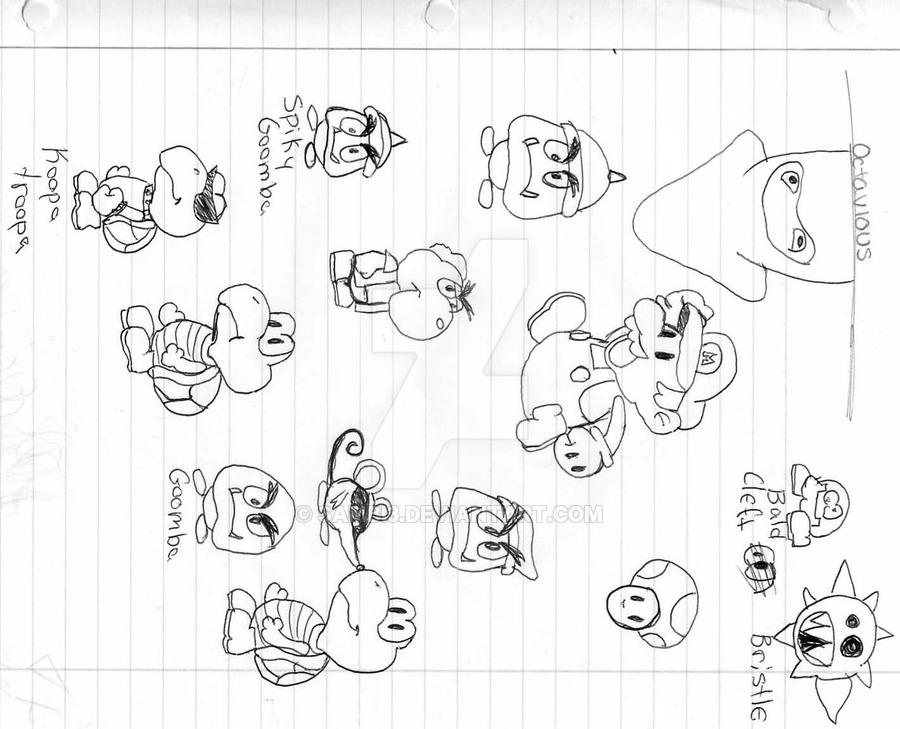 900x729 Paper Mario Characters By Sambi3