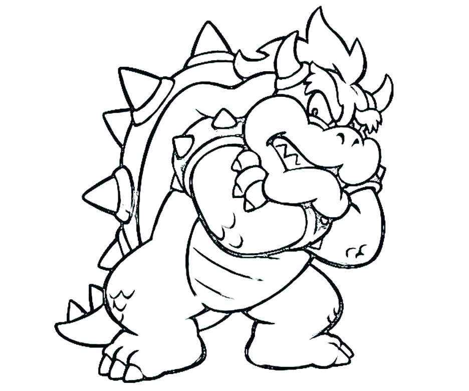 936x780 Super Mario Bowser Coloring Pages To Print