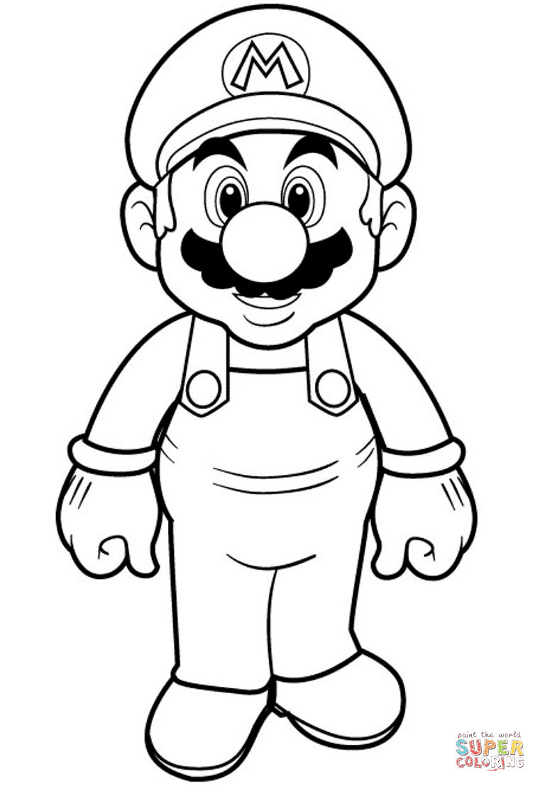761x1109 Super Mario Coloring Page Free Printable Coloring Pages