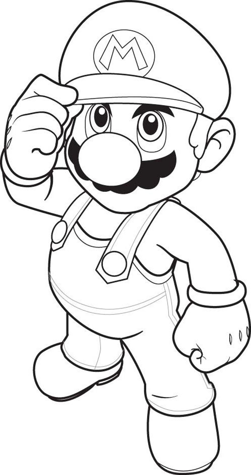 1000x1886 Mario Characters Coloring Pages