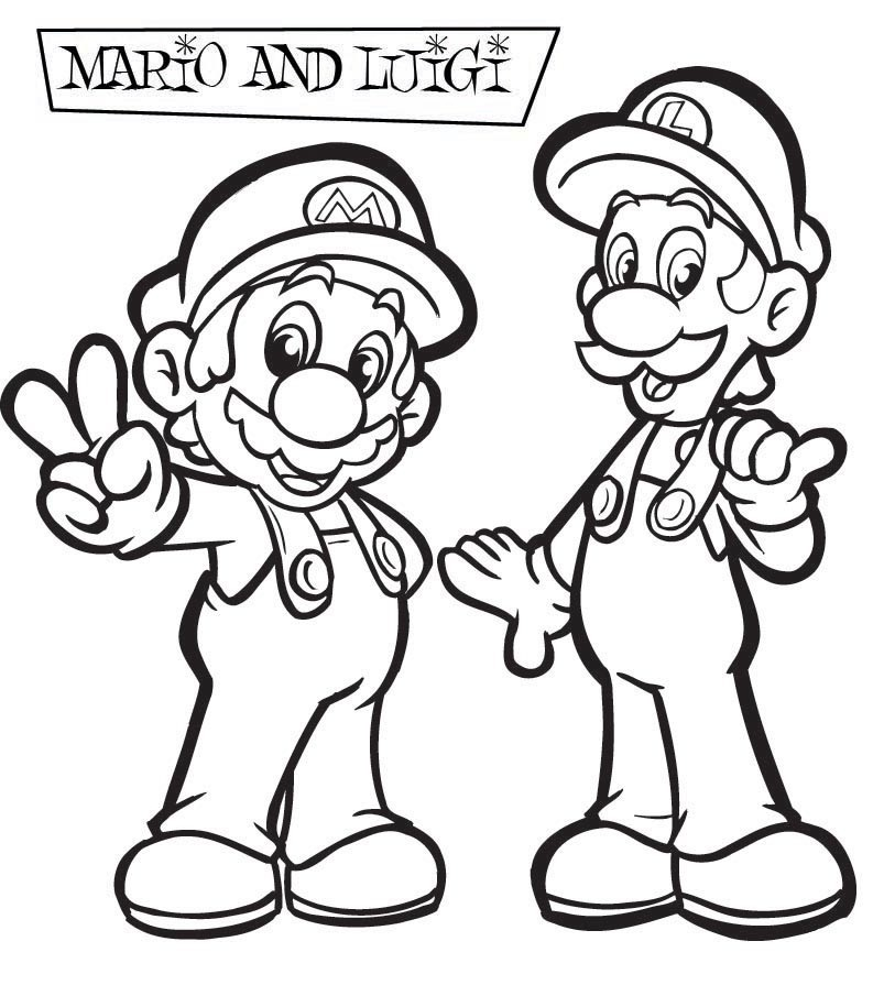 Mario Coloring Pages Black And White Super S For You