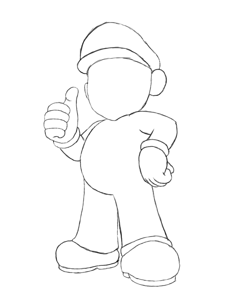 800x974 How To Draw Mario