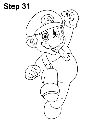 404x523 How To Draw Super Mario (Full Body)