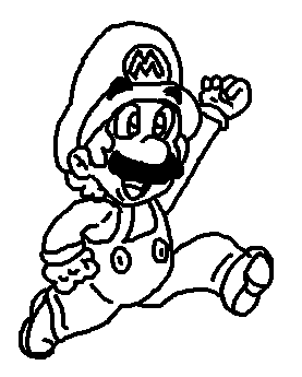 277x345 Mario Jumping Free Hand Drawing By Icepony64