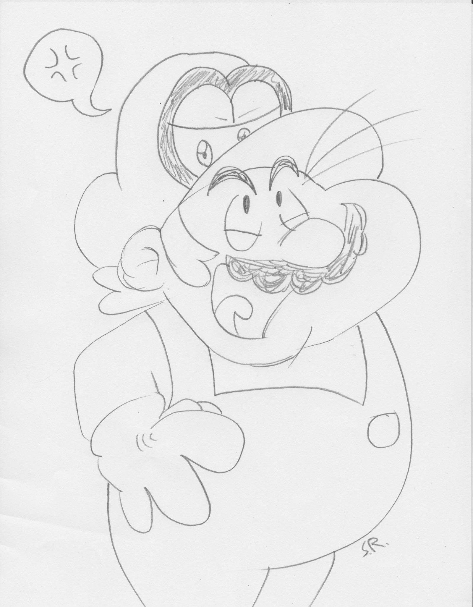 Mario Drawing At Getdrawings Com Free For Personal Use