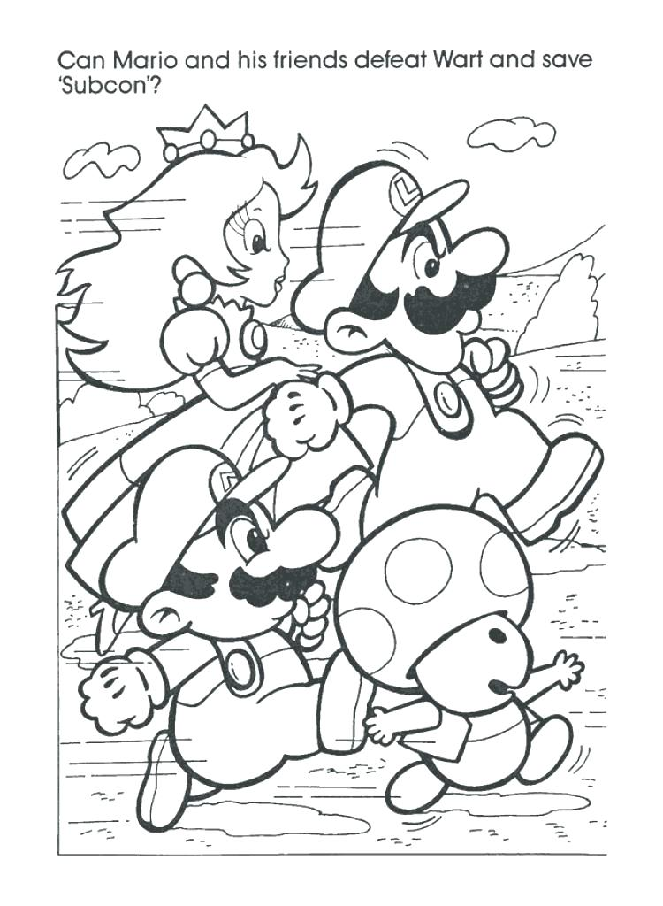 750x1024 Mario Brothers Coloring Book Also Coloring Book Plus Book Bros