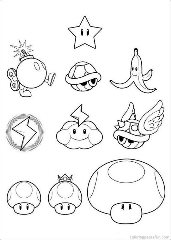 571x800 Super Mario Bros Coloring Pages 14 Mario Super