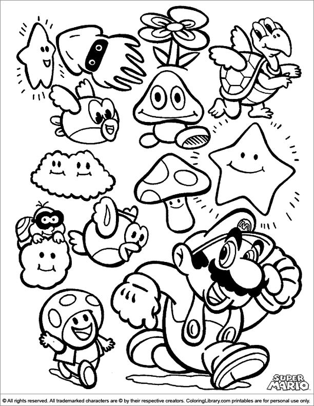 612x792 Super Mario Brothers Coloring Page Super Mario Bros