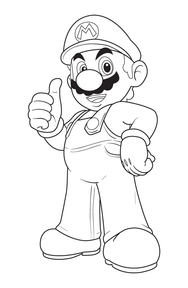 616x940 Mario Coloring Pages