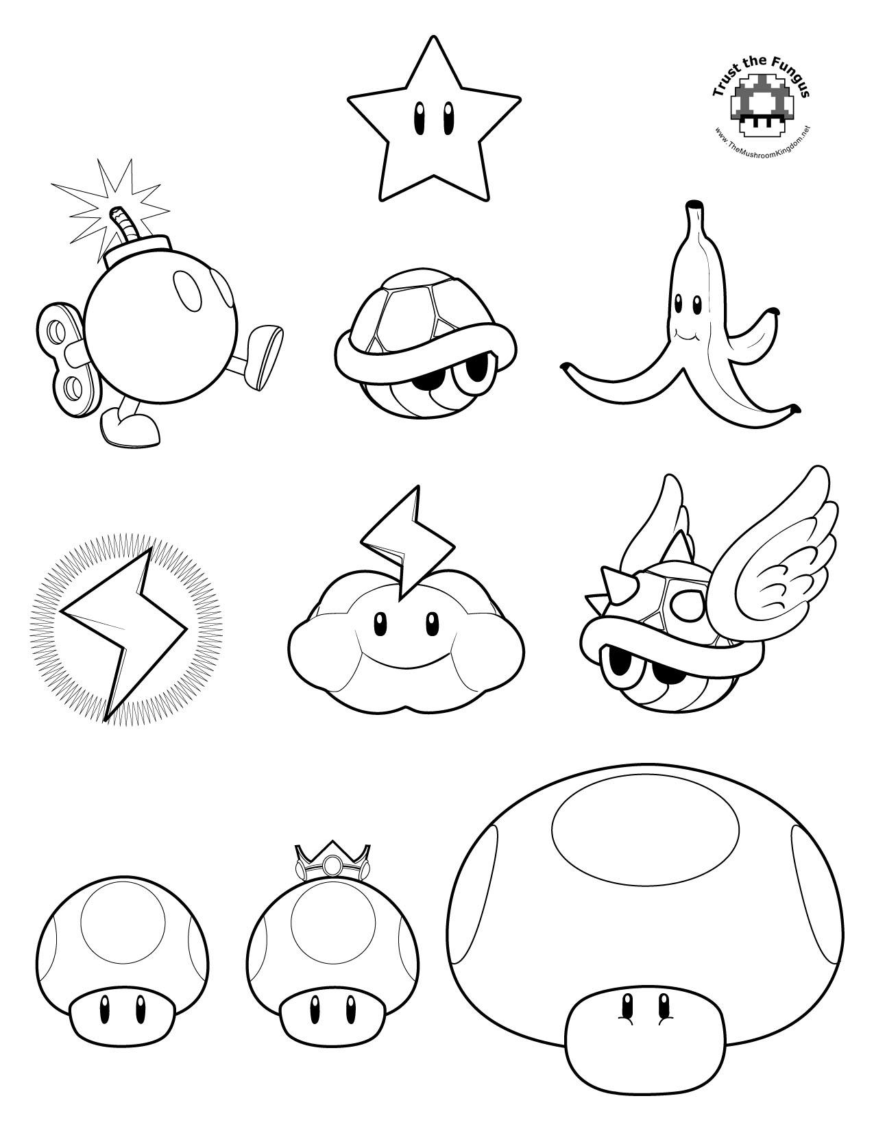 1275x1650 Mario Mushroom Coloring Pages