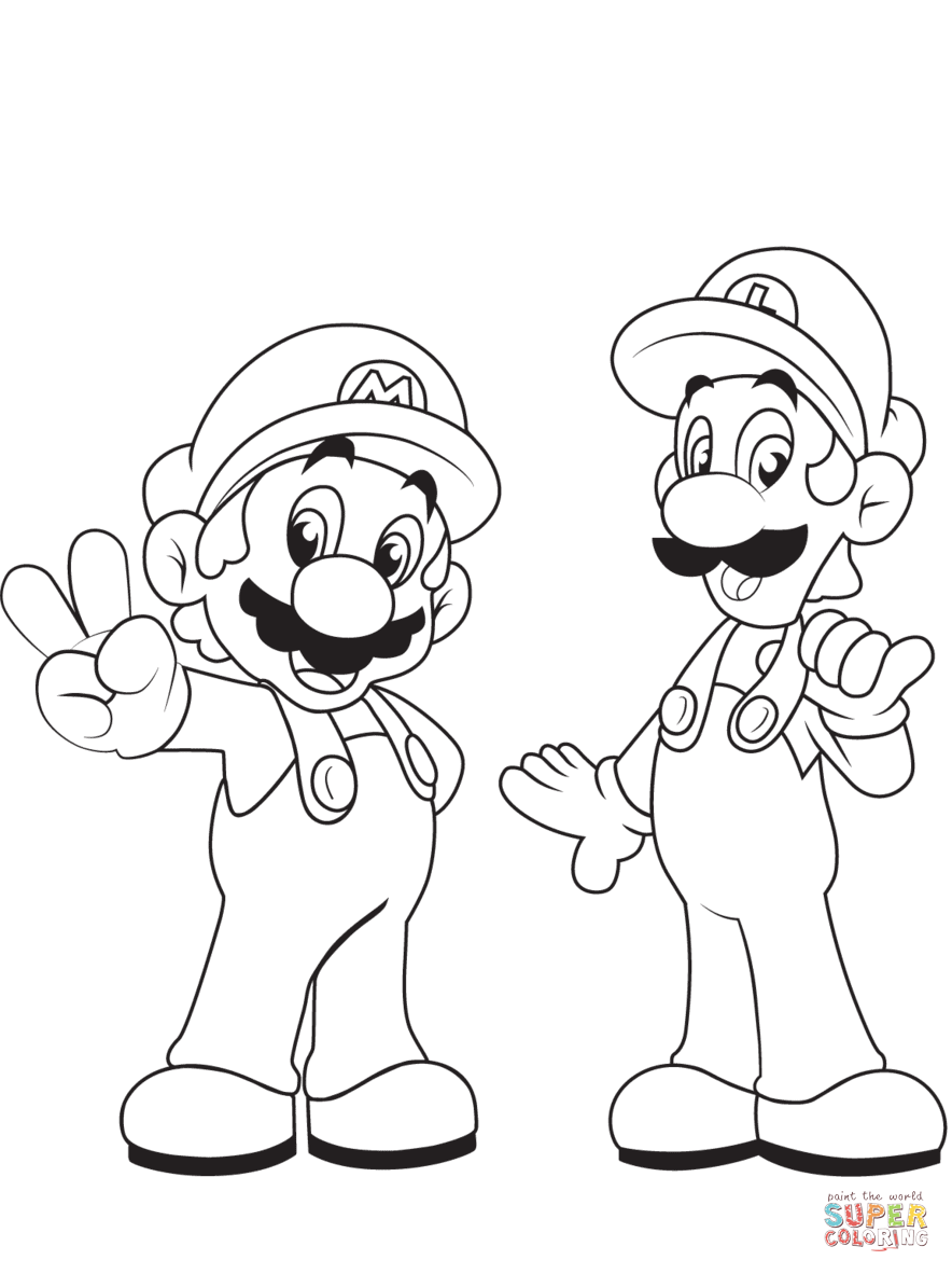 884x1182 Super Mario Bros. Coloring Pages Free Coloring Pages