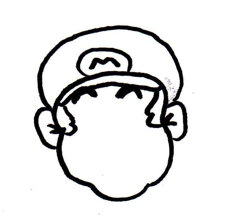 785x736 How To Draw Peace Mario! 10 Steps