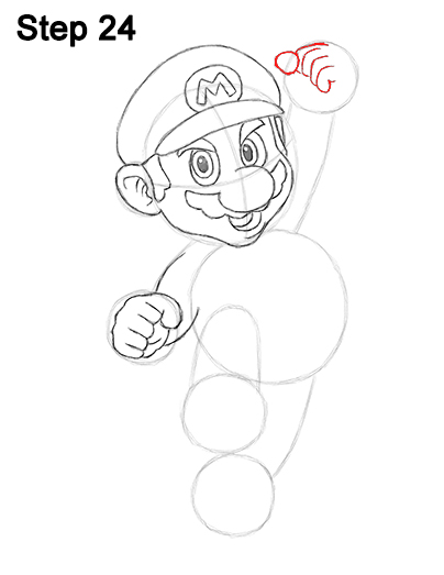 404x523 How To Draw Super Mario (Full Body)