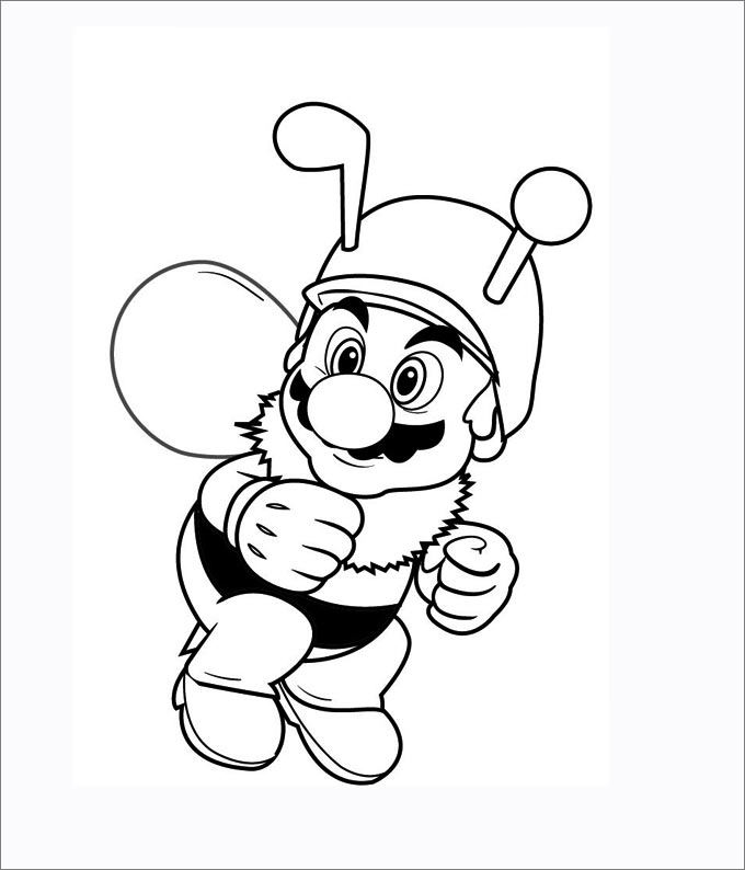 680x794 Mario Coloring Pages