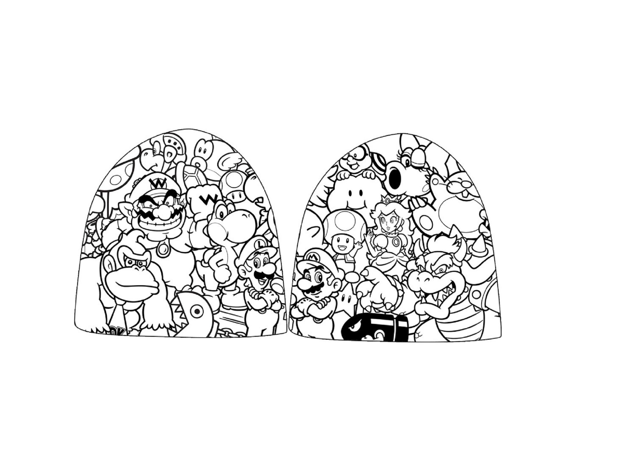 2171x1601 Nintendo Beanie Hat Cap Zelda Super Mario Logo New Official Ebay