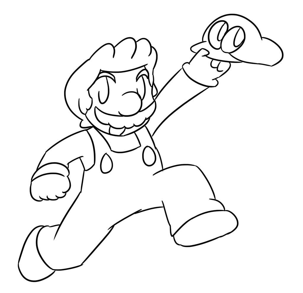 1024x992 Super Mario Odyssey Lineart By Xero J