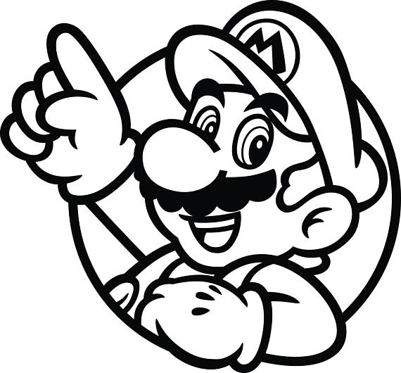 570x530 Super Mario Svg Super Mario Stencil Supermario Logo Head