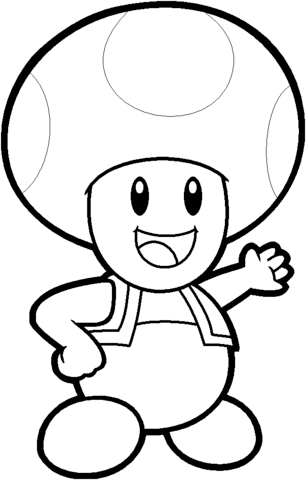 306x480 Toad From Mario Bros. Coloring Page Free Printable Coloring Pages