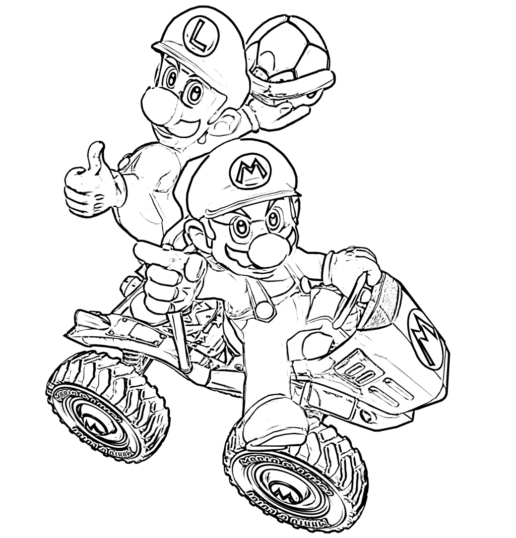 Mario Kart 8 Drawing At Getdrawings Com Free For Personal