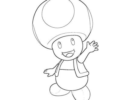 440x330 40 Toad Mario Coloring Pages, Gallery For Mario Toad Coloring Page