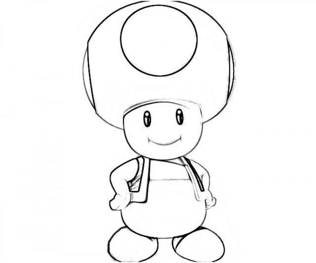 Mario Toad Drawing at GetDrawings | Free download