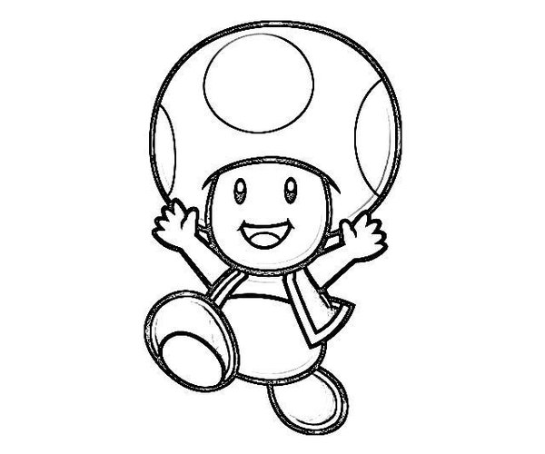 600x500 Mario Toad Coloring Sheet Toad Mario Coloring Pages To Print