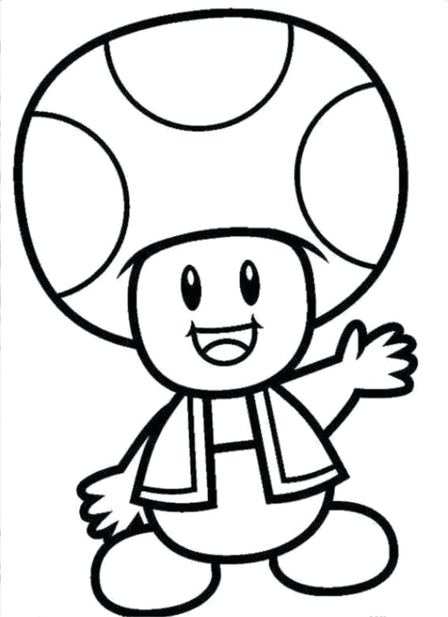 Mario Toad Sheet Coloring Pages