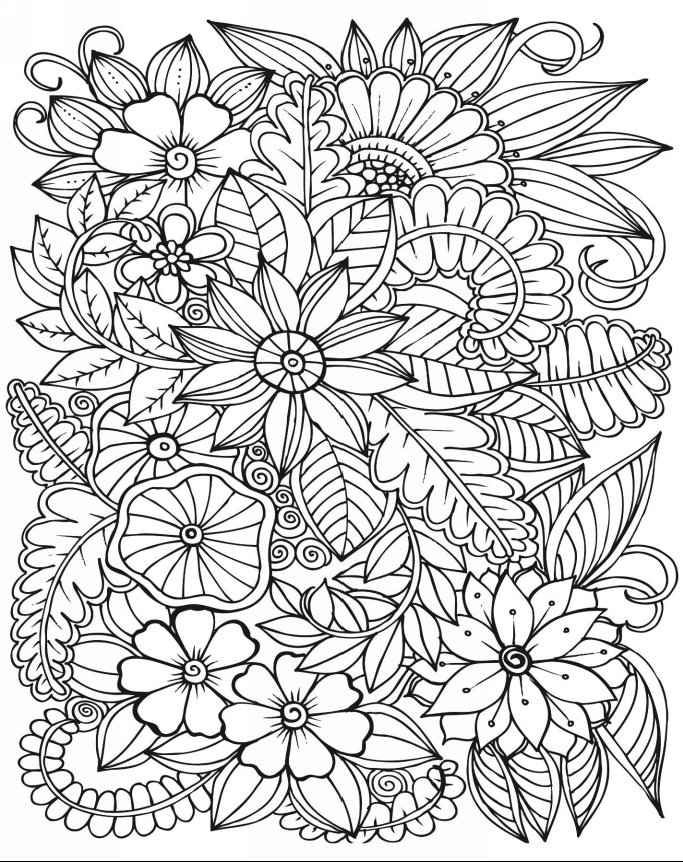 683x862 Copic Marker Coloring Book Flowers Copic Marker Coloring Tutorial