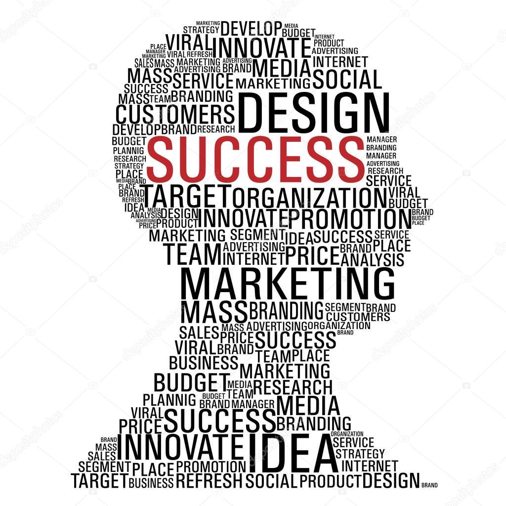 1024x1024 Marketing Success Head Communication Stock Vector Cienpies