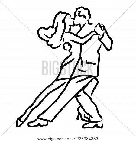 450x470 Tango Argentino Dancer Sketch. Vector Amp Photo Bigstock