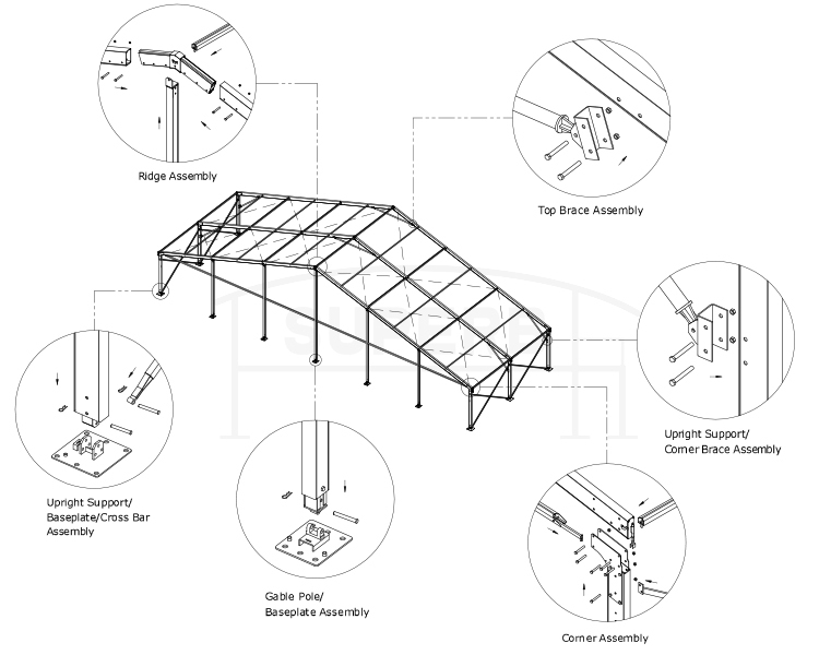 750x600 Hottest Tent Style Losberger 2030m Clear Span Structural Marquee