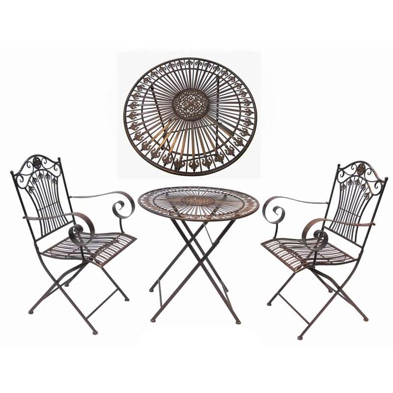 800x800 Marquee 3 Piece Rustic Iron Bistro Setting In 3191289 Bunnings