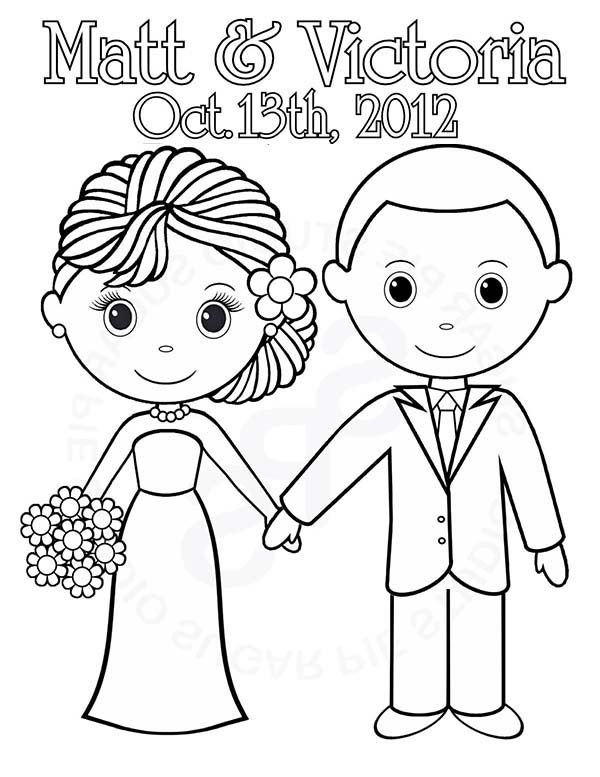 600x777 We Are Getting Married Today Its Our Wedding Day Coloring Page