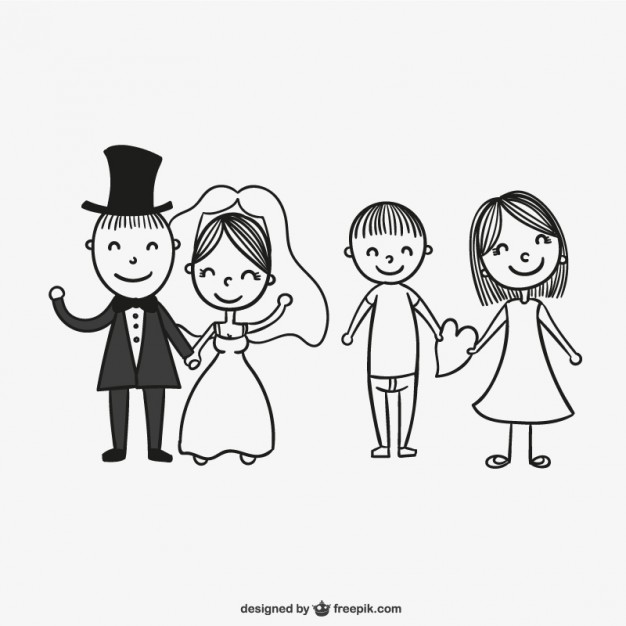 626x626 Wedding Couples Drawing Vector Free Download