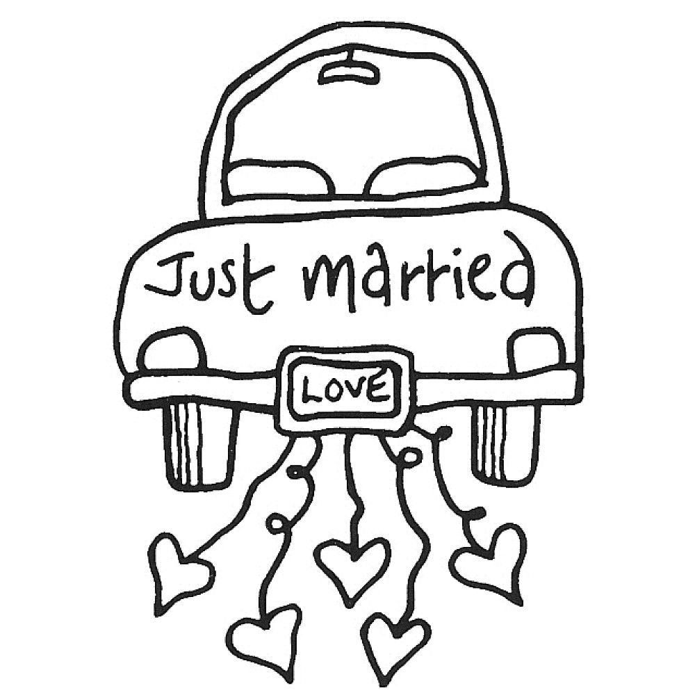 1000x1000 Wedding Just Married Coloring Pages