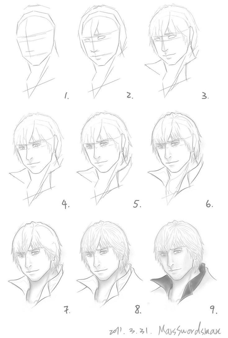 734x1088 How I Draw Dante Head Part By Marsswordsman