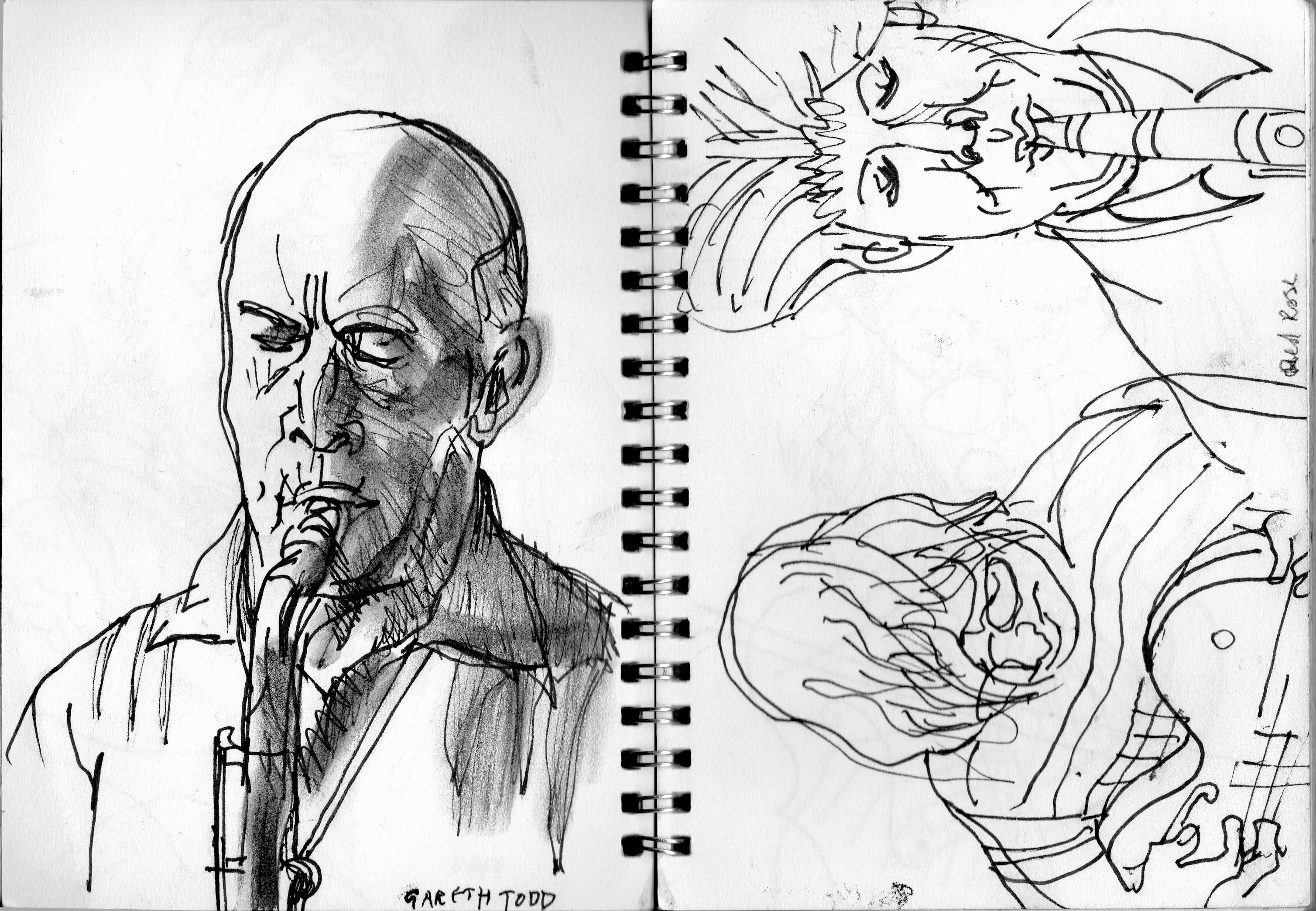 3016x2088 Jazz Drawings Jim Dunkley