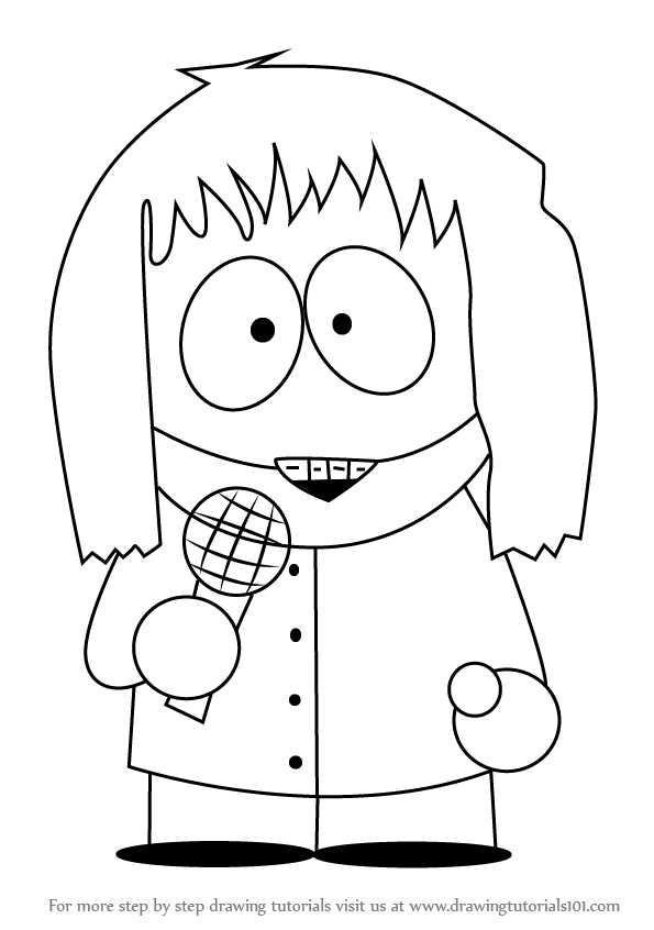 595x846 Learn How To Draw Shelly Marsh From South Park (The Simpsons) Step