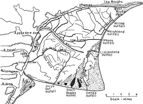 500x366 Watercourses On Romney Marsh