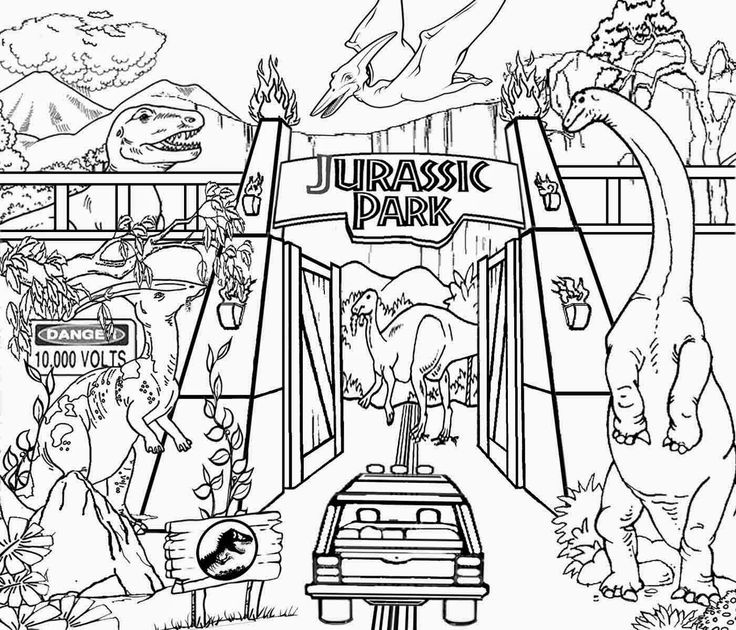736x630 Best Jurassic Park Coloring Pages 19 For Characters Coloring Pages