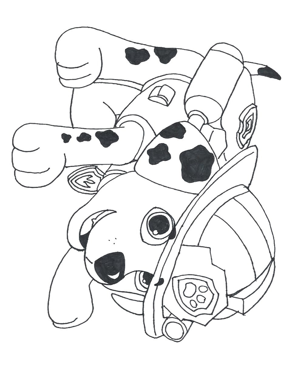 paw patrol coloring pages marshall - marshall paw patrol drawing at free for