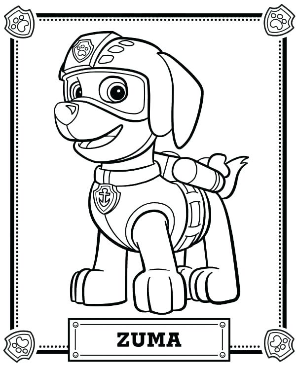 604x746 marshall paw patrol coloring pages paw patrol coloring pages paw - Marshall Paw Patrol Coloring Page